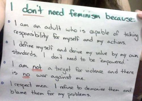 Don'tNeedFeminism 2