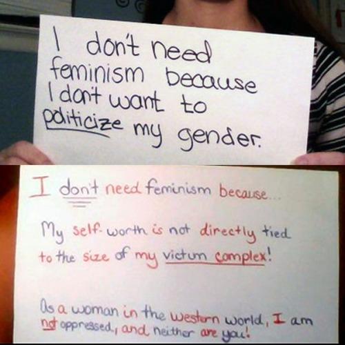 Don'tNeedFeminism 4