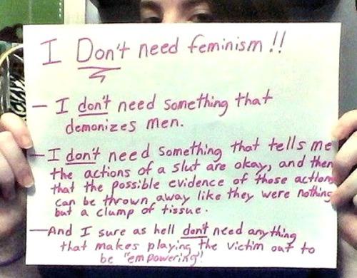 Don'tNeedFeminism 5