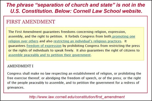 First Amendment from Cornell Con Law site