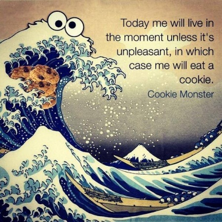 Hokusai meets Cookie Monster