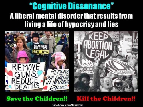 Liberal cognitive dissonance guns and abortion