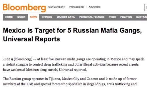 Mexico is target for 5 Russian mafia gangs