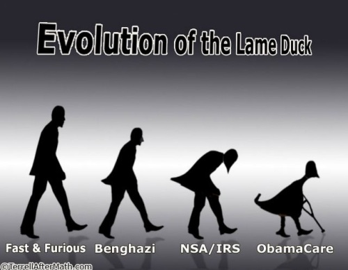 OBAMA Evolution of the lame duck