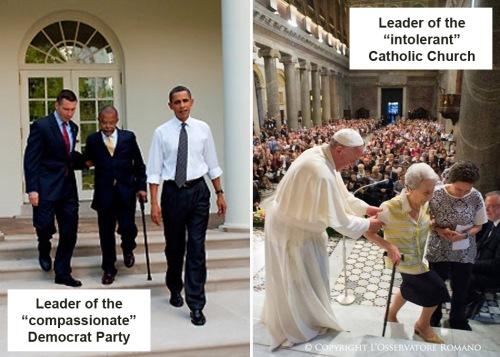 Obama v Pope Francis
