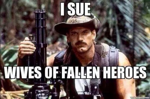 Ventura I sue wives of fallen heroes