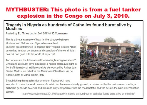 2013_01 03 Blog post claims burned bodies are Catholics in Nigeria