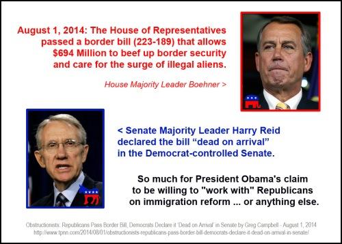 2014_08 01 House passes border bill Reid says its DOA