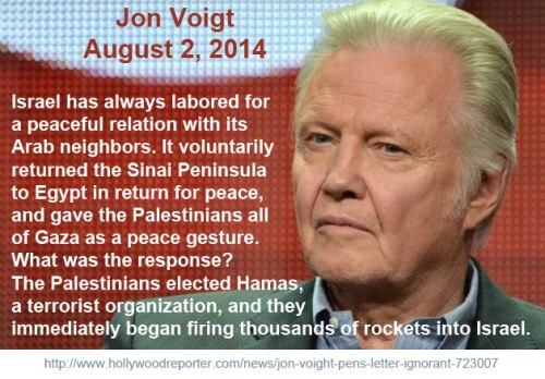 2014_08 02 Jon Voigt on Israel
