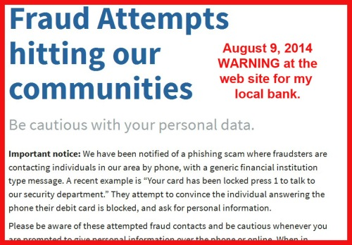 2014_08 09 Fraud warning from CFCU