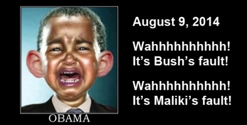 2014_08 09 Obama blaming Bush Maliki