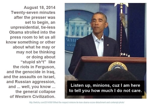 2014_08 18 Obama doesn't care
