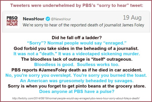 2014_08 19 PBS sorry to hear Foley died