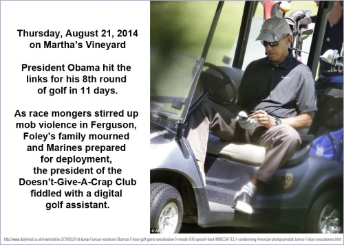 2014_08 21 OBAMA 8th round of golf in 11 days