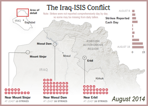 2014_08 24 Map of Iraq-ISIS strikes