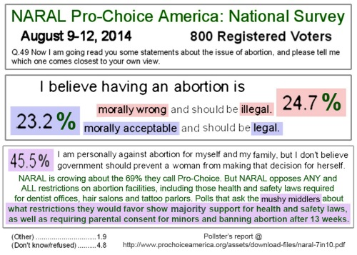 2014_08 NARAL abortion opinion poll