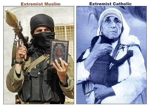 Extremists - Muslim v Catholic