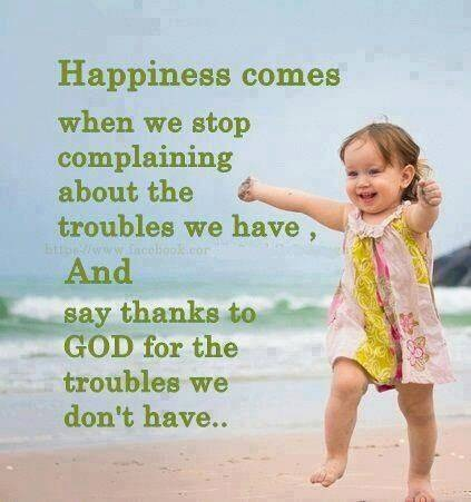 Happiness and gratitude
