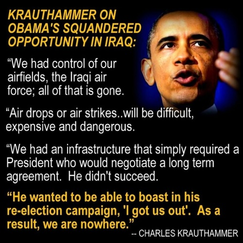 Krauthammer on Obama's Iraq pull out