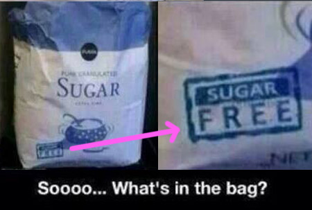 SUGAR So what's in the bag