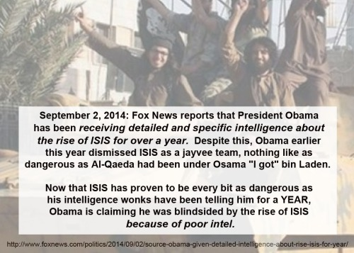 2014_09 02 Obama had intel on ISIS a year ago