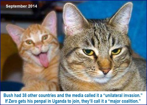 2014_09 Bush v Obama and media invasion
