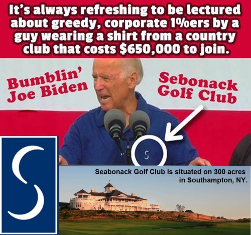 Biden - Seabonack golf club