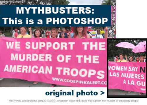 Code Pink does not support murder of American troops