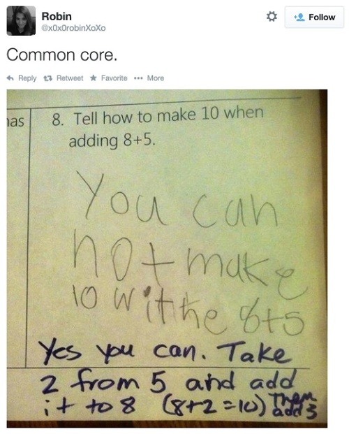 Common Core - making the simple difficult