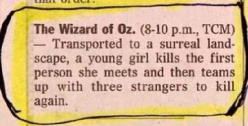 ExplainAFilmPlotBadly Wizard of Oz