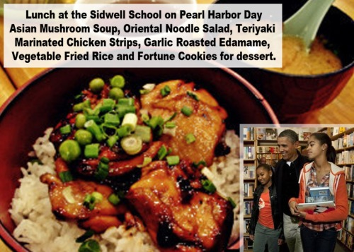 Michelle's daughters' school lunches