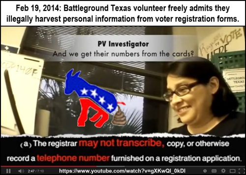 Project Veritas BGTX illegally harvesting voter info