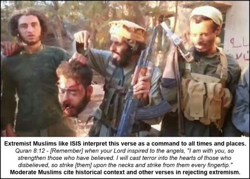 Quran 8-12 beheading