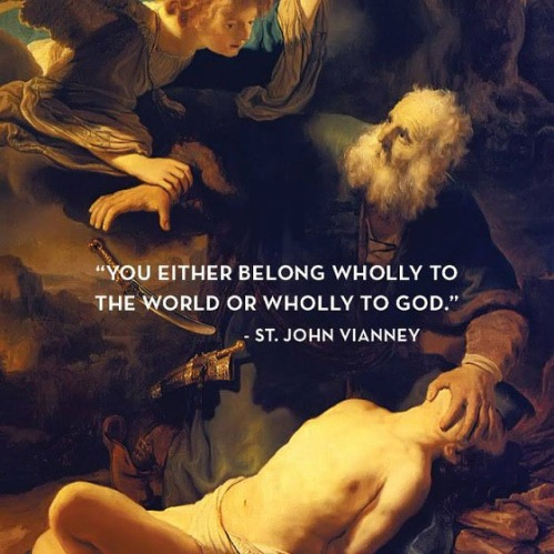 St John Vianney - There is no middle ground