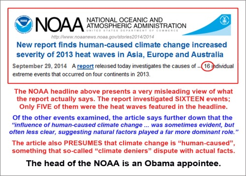 2014_09 29 NOAA politicizes report