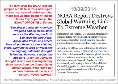 2014_10 09 NOAA report destroys AGW