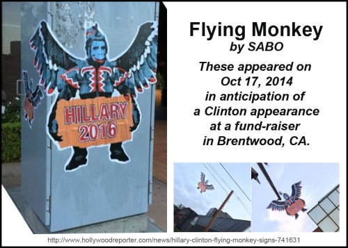 2014_10 17 Clinton's Flying Monkey by SABO