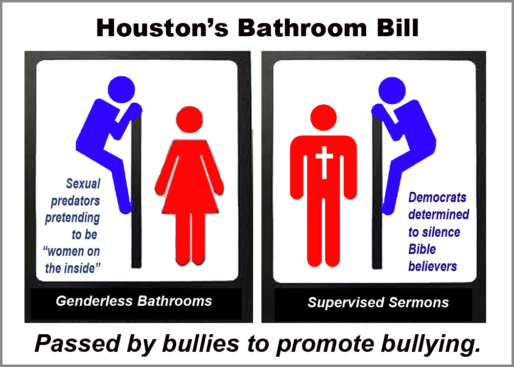 Bathroom Bill Texas don't mess with texas pulpits! – update! |