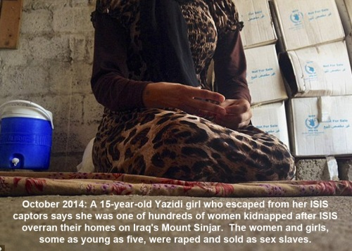 2014_10 Yazidi women sold as sex slaves