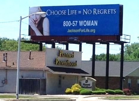 ABORTION Brilliant ad placement
