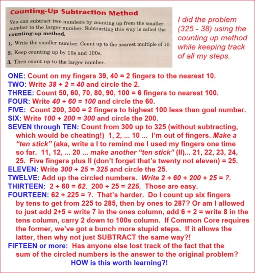 Common Core counting the counting up method