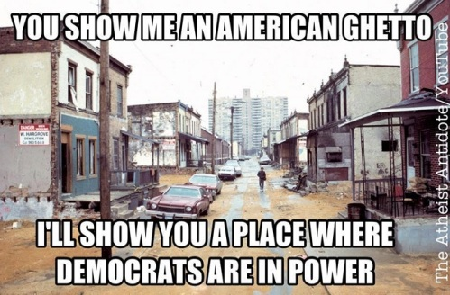 Ghetto means Democrats are in charge