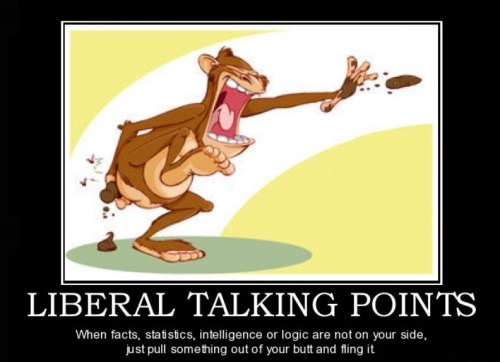 Liberal talking points - monkey poo