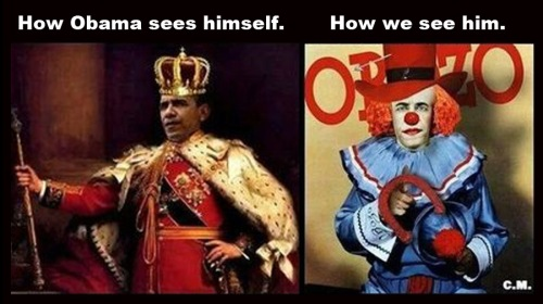 Obama King Clown