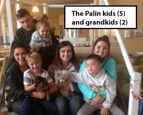 Palin kids and grandkids