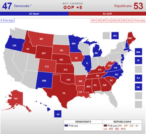 Real Clear Politics 2014 Senate Race Map 10-16-2014