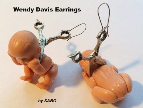 SABO Wendy Davis earrings