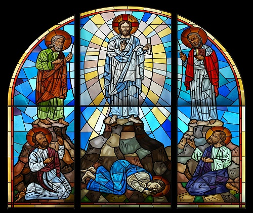 Transfiguration stained glass window