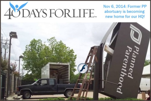 2014_11 06 PP bldg to become 40 Days for Life HQ
