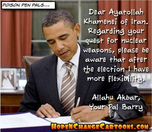 2014_11 08 Obama's letter to Iran toon